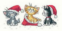 Christmas Kittens - Cats Rule! Cross Stitch Kit by Heritage Crafts