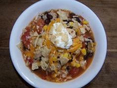 instant rice diced tomatoes with green chilis corn cooked chicken chicken bouillon black beans  Tortilla Soup 100 3791 300x225