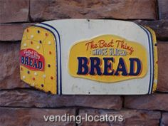 Embossed 50's Style BREAD Metal SIGN Cafe Sunbeam Colonial Wonder Rainbo 5 Cents