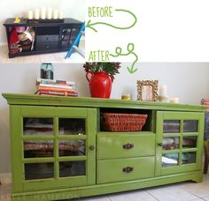Painting over dark furniture - sand, spray paint, sand edges, apply wood stain, then towel off, Rub and Buff corners