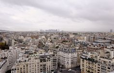 Panoramic view from the 22nd floor of the tower of the Radio House in Paris