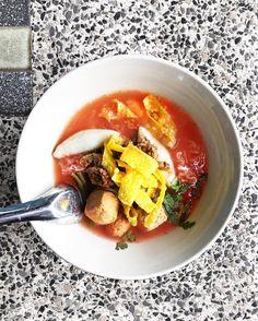 Pink soup noodle (Yen-Ta-Foh) เยนตาโฟสชมพ . . . . #food #foodporn #yum #instafood #TagsForLikes #yummy #love #instagood #photooftheday #sweet #dinner #lunch #breakfast #fresh #tasty #foodie #delish #delicious #eating #thaifood #foodpics #eat #hungry #foodgasm #hot #gastronaughty #bangkok #thailand