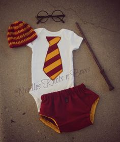 Baby Boy Harry Potter Outfit, Baby Shower Gift, Boys Coming Home Set | NeedlesKnotsnBows - on ArtFire
