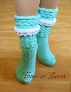 Носки шерстяные, вязаные носки, ручное кружево, обувь для дома, носки с мехом, сапожки вязанные, гетры высокие,носки в подарок, женские, носки, зимние, носки вязаные с косами, подарок на Новый год