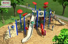 Commercial playground equipment - Burke NU-1989.