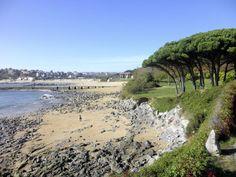 Península y playa de la Magdalena, en Santander. Cantabria. Spain.