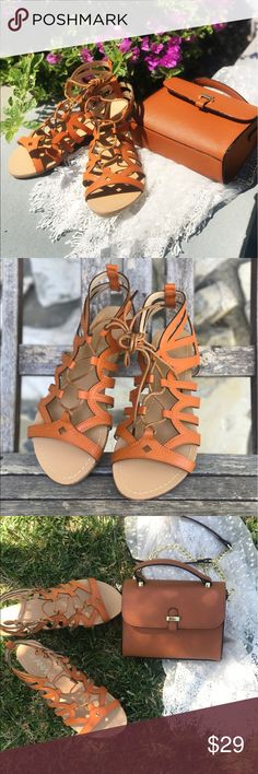 Festival Fun Strappy Tie Lace Up Sandals •Brand New In Box• •All Vegan Materials• •True to Size• •open Toe• •Adjustable Lace Up• •feel free to ask questions!• •www.thefairyden.com• •free shipping on all orders over $35 on my website• Shoes Sandals