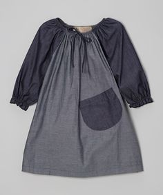 Gray Denim Dress - Toddler & Girls
