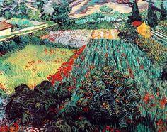 Vincent Van Gogh - Post Impressionism - Saint REMY - Champ de coquelicots.