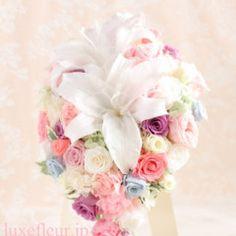 a4604a042f497 ウェディングブーケ 花冠 Luxe Fleur プリザーブドフラワーとアーティフィシャルフラワー(造花)の持ち込み専門店
