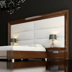 13 mejores im genes de camas de madera wood beds alcove - Cabeceros de cama en madera ...