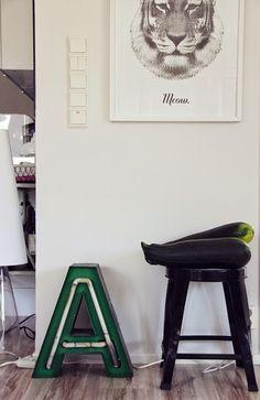 Koti kolmelle - Sisustusblogi #home #poster #print #black #white #tiger #kotikolmelle