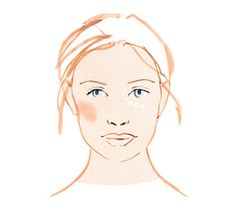 Illustration of woman with makeup primers