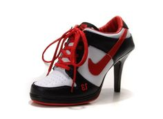 Nike Dunk Unlucky 13 High Heels Black White Red