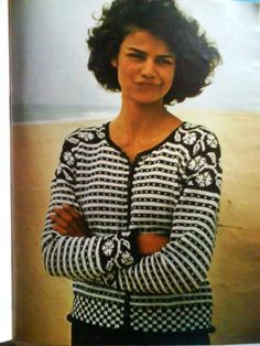 Like the details Fair Isle Knitting Patterns, Fair Isle Pattern, Knitting Designs, Knit Patterns, Crochet Woman, Knit Crochet, Leather Apron, Knitting Magazine, Jackets
