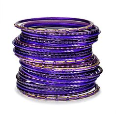 Violet Sky Bangle Stack