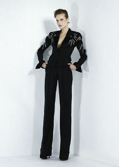 Black pant suit. Zuhair Murad - Ready-to-Wear - Fall-winter 2011-2012