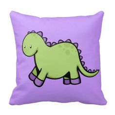 Cute Dino Pillows #cartoondino #dinosaurs #kidspillow #roomdecor