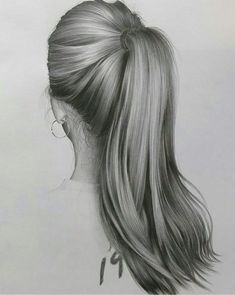 Drawing tips, ponytail drawing, realistic pencil drawings, how to draw hair, Realistic Hair Drawing, Realistic Sketch, Realistic Pencil Drawings, Pencil Art Drawings, Drawing Hair, Art Drawings Sketches, Drawing Tips, Drawing Ideas, Sketch Drawing