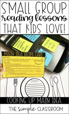 Fun main idea lesson for reading small groups in the elementary classroom. Easy, low-prep small group lesson that is already planned for teachers. Reading Lesson Plans, Reading Lessons, Reading Skills, Guided Reading, Teaching Reading Strategies, Reading Comprehension, Main Idea Lessons, Teaching Main Idea, Elementary Teaching