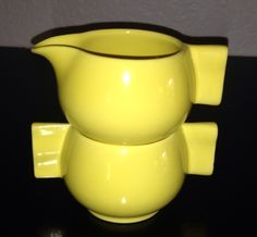 California Pottery 1930s Gladding McBean stackable sugar & creamer made as a promotional for the Sperry Flour Company