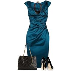 """""""Blue Wrap Dress"""" by daiscat on Polyvore"""