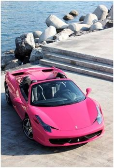 would you want a pink ferrari enter for the chance to win a trip to