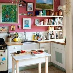 one of my favourites - it's quaint, it's creative, and it's about making do with what you have, not simply chucking everything out and doing a reno