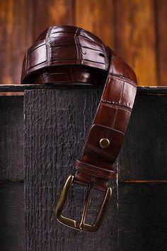 crocodile belt for sale Tan Leather Belt, Leather Skin, Mens Luxury Belts, Alligator Belt, Crocodile Skin, Gentleman, Mens Fashion, Milano, Life Photography
