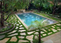 Stunning pool landscaping!