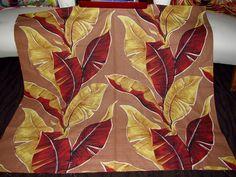 Ocean Drive Meets Old Havana Banana Leaves 1940's Vintage Barkcloth Fabric Panel