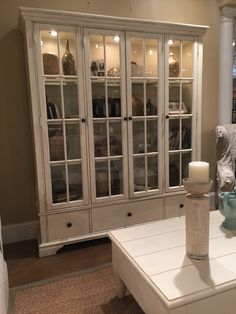 Trisha Yearwood Monticello Curio Cabinet In Whipped Cream Finish Available By Special Order