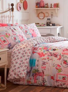 Pink cut and Sew, quirky fun bright and new bed linen at BHS. Love the craft cut and sew look