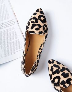 leopard shoes outfit Do the cat walk in theLeopard Pointed Toe Loafers.These sassy loafers have a textured animal print outer shell and soft pointed toe front. These wear-everywher Leopard Shoes Outfit, Flat Shoes Outfit, Leopard Print Shoes, Me Too Shoes, Women's Flat Shoes, Flat Sandals, Animal Print Flats, Leopard Print Flats, Style Grunge