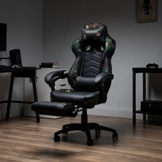 Respawn 110 Racing Style Reclining Gaming Chair with Footrest - On Sale - Overstock - 22848763 - Black Gaming Furniture, Office Furniture, Gamer Chair, Pc Racing Games, Rolling Office Chair, Ergonomic Chair, Support Pillows, Cost Saving, Furniture For Small Spaces