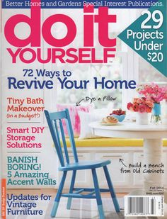 The fall issue of Do It Yourself Magazine features inspiring projects with Chalk Paint® decorative paint by Annie Sloan projects and more! Find your copy at your local newsstand and select stockists.
