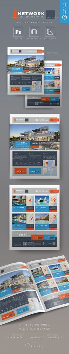 Network - Creative #Real Estate Flyer - Commerce Flyers