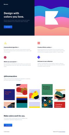 What a wonderfully clear Landing Page encouraging you to Get Started with Khroma AI color tool. Site Design, Web Design, One Page Website, First Page, Inspire Others, Cool Websites, How To Introduce Yourself, Get Started, Save Yourself