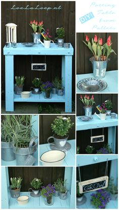 DIY Potting Table from Pallets #diy #gardening #upcycle
