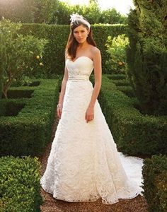 A-line ballgown with 3D flowers on sale!