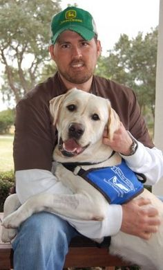 marcus lutrell. and his service dog   ... this beautiful photo of Marcus and his current service dog, Rigby