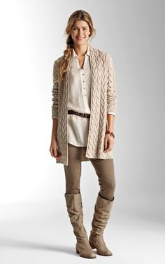 Great fall casual outfit - J. Jill