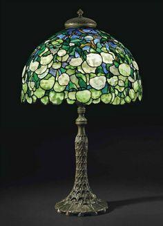Art Nouveau Snowball Tabler Lamp by Tiffany Studios ca.1905