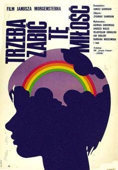 Vintage Polish movie poster » The Love Must Die 1972 by W.Swierzy