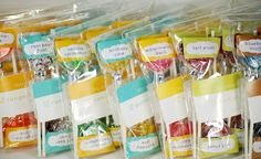 50 Best Bridal Shower Favor Ideas: flavored lollipop favors (by this charming candy)