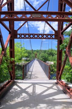 This bridge is awesome...unless you're afraid of heights.