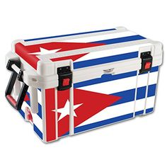 MightySkins Protective Vinyl Skin Decal for Pelican 65 qt Cooler wrap cover sticker skins Cuban Flag -- Read more reviews of the product by visiting the link on the image.(This is an Amazon affiliate link and I receive a commission for the sales)
