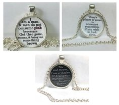$6.99 Lovely fan piece - Inspired by by the awesome The Mortal Instruments Series .. These necklaces are a little over 1 inch in size .. on a 24 inch chain