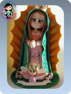 Foam Crafts, Diy And Crafts, Pasta Flexible, Polymer Clay Projects, Mexican Folk Art, Cold Porcelain, 3 D, Aurora Sleeping Beauty, Baby Shower