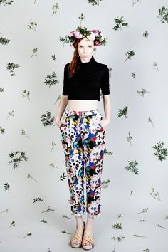 Harem Pants, Trousers, Laser Cut Jewelry, Ss16, Flower Patterns, Sustainable Fashion, Knitwear, High Waisted Skirt, Capri Pants